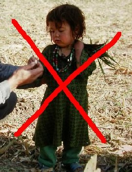 Sustainable tourism: don't push children to begging.